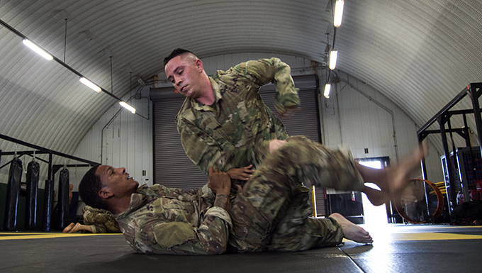 Bioenvironmental Airman takes on the Tactical Combatives Course